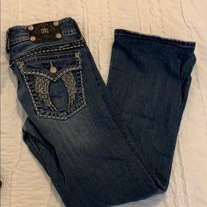 Miss Me Angel Wing Embellished Jeans